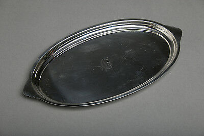 Vintage S. KIRK & SON Sterling Silver Small Oval Tray, PRIMROSE Pattern