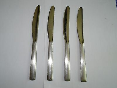 4 Vintage Viners Stainless Steel Small Table Knives