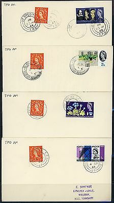 Gb 1963/66 Selection Of 8 Different Tpo Am Handstamps - Set 2
