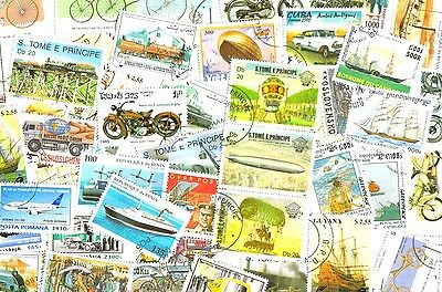 TRANSPORT - Lot of 50 worldwide different colorfull stamps