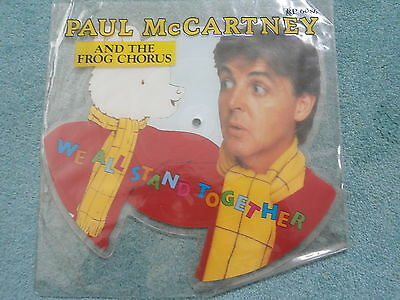Paul Mccartney & Frog Chorus Shaped Picture Disc We All Stand Together Beatles