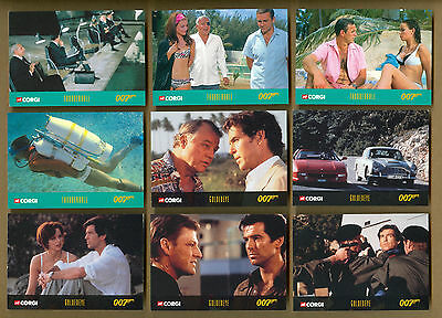 1999 Inkworks James Bond Corgi Car Lot Of 9 Trading Cards