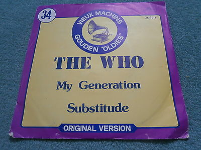 The Who My Generation Substitute Misspelt Sleeve Pete Townshend Polydor Belgium