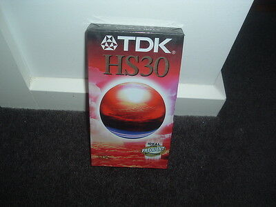 Tdk Vhs Blank Tape Hs30 Brand New In Wrap