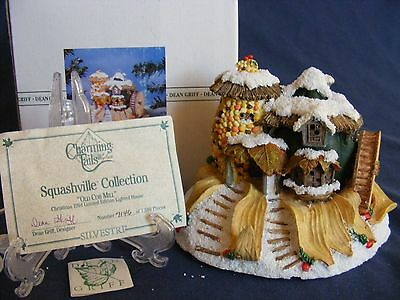 CHARMING TAILS OLD COB MILL Lighted Figurine LIMITED EDITION NIB Snow Winter