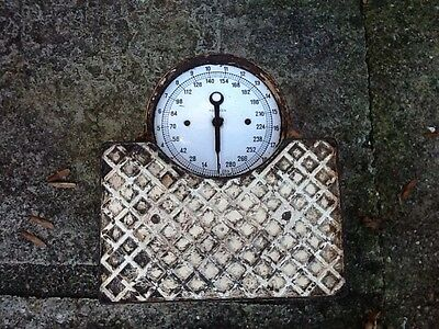 Vintage cast iron industrial scales
