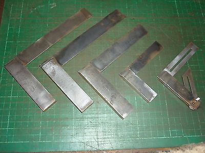 5 X Engineers Squares Incl Moore And Wright Engineering Fabrication Tools