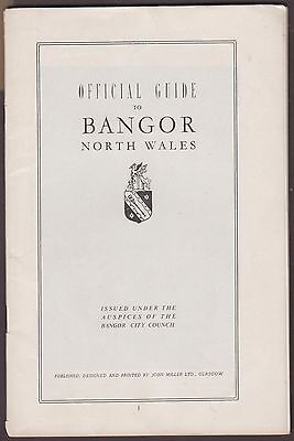 Vintage Official Guide To Bangor North Wales 1950/60's Booklet