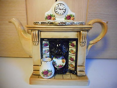 Royal Albert Old Country Roses Cardew One Cup Fireplace Teapot