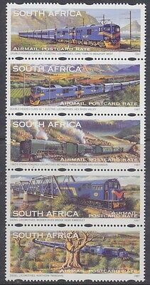 South Africa - Strip Of 5 - The Blue Train - 1997 Issue - Mnh