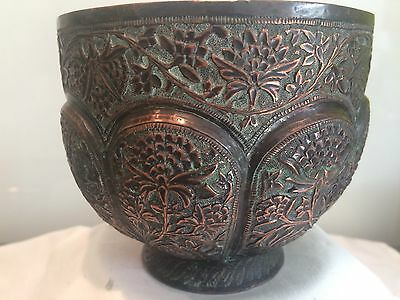 Antique Fine Islamic Copper Bowl