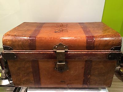 Decorative Painted Victorian Trunk