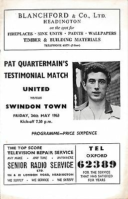 OXFORD UNITED v Swindon (Testimonial) 1962/3 - 1st season in League!