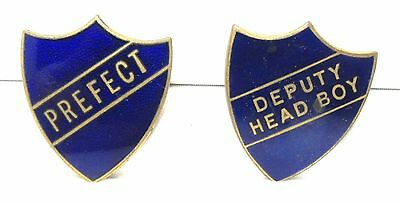 These Are Old Prefect/ Deputy Head Boy Enamelled Badges