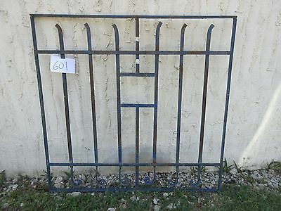 Antique Victorian Iron Gate Window Garden Fence Architectural Salvage Door #601