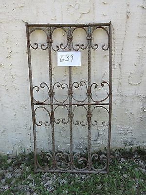 Antique Victorian Iron Gate Window Garden Fence Architectural Salvage Door #639