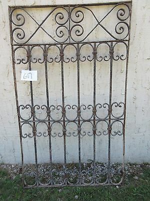 Antique Victorian Iron Gate Window Garden Fence Architectural Salvage Door #617