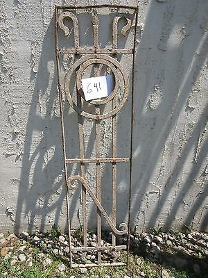 Antique Victorian Iron Gate Window Garden Fence Architectural Salvage Door #641