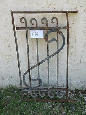 Antique Victorian Iron Gate Window Garden Fence Architectural Salvage Door #640