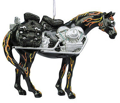 Trail of Painted Ponies MOTORCYCLE MUSTANG ORNAMENT Retired, New In Box!