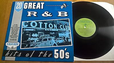20 Great  R&b Hits Of The 50's- Lp - Cascade Records Drop 1001- Uk- Various