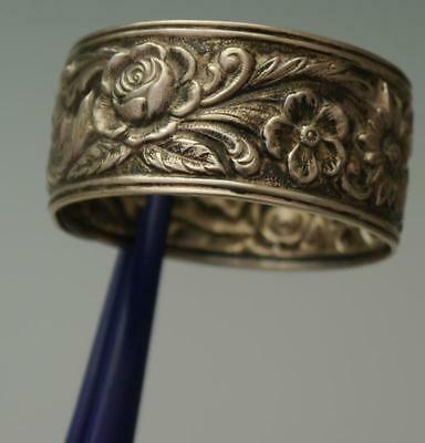 """Kirk & Son Sterling Silver Repousse Napkin Ring 1 7/8"""""""
