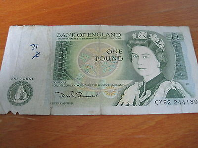 £1 NOTE - Bank Of England - CY52 244180