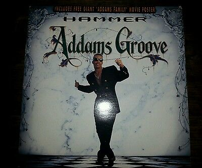 """Hammer Addams Groove 12"""" Vinyl Poster Sleeve Uk 12Clp 642 Capitol Records"""