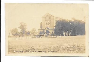 Old postcard, 'St. Georges (Garrison) Church, Woolwich'.  'Real photo'. Unmailed