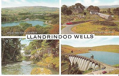 Splendid Old Postcard - 4 Different Views - Llandrindod Wells - C.1961