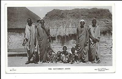 Old postcard; Africa: 'The Battaheen Arabs'. Real photo.