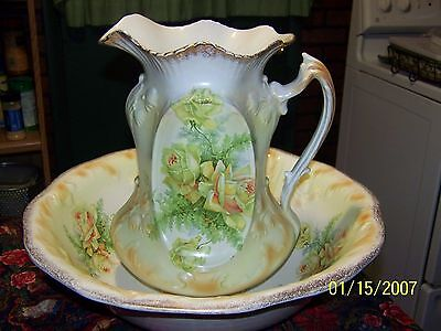 Myott, Son & Co. England Large Wash Bowl And Pitcher Very Nice Look !