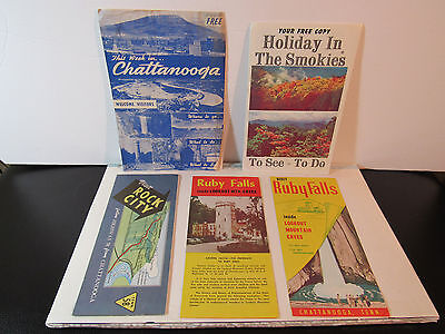 Vintage Travel Advertisememnts 1960s Tennessee,Chattanooga,Rock City,Ruby Falls