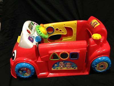 Fisher-Price Laugh And Learn Smart Stages Crawl Around  Car Red W/3 Shapes GUC
