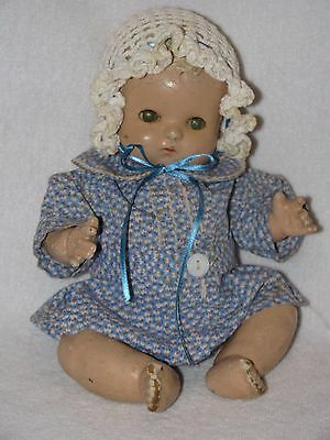 """10"""" Vintage Composition Effanbee Patsy Baby Doll"""