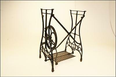 Antique CAST IRON Treadle Base table vintage sewing machine industrial metal AA