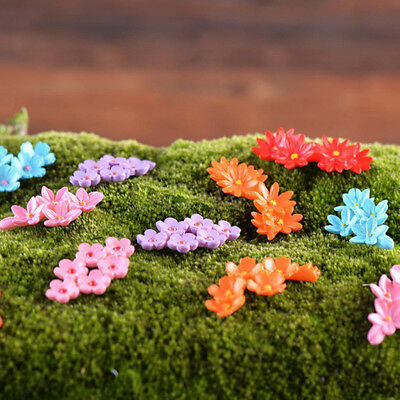 10Pcs Miniature Moss Flower Craft Fairy Dollhouse Decor Garden Ornament DIY