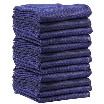 """Moving Blankets (12 Pack) 72x80"""" 43lbs Econo Professional Quilted Pads"""