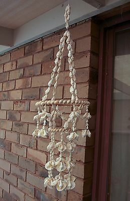Vintage Retro 60s/70s KITSCH HANGING SEA SHELL ORNAMENT/MOBILE/CHANDELIER