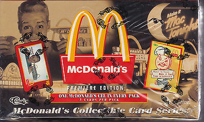 McDONALDS - Premiere Edition Collector Cards Series Sealed Box (Classic) #NEW