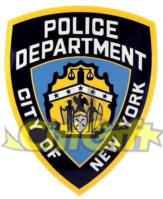 Licensed Nypd New York Police Shield Badge Bumper Sticker Decals Gift