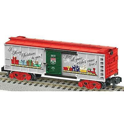 American Flyer 6-48825 Merry Christmas Boxcar 2012 S gauge AF Shield Red trucks