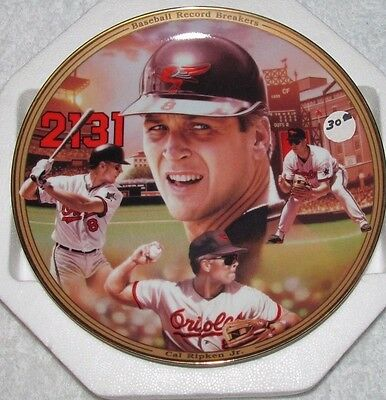 Cal Ripken Plate With All His Many  Accomplishments