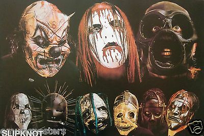 "SLIPKNOT ""2 ROWS OF HEAD SHOTS OF BAND"" POSTER FROM ASIA - Heavy Metal Music"
