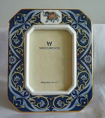 "Wedgwood ""BLUE ELEPHANT"" China Photograph Frame  -- Made in England"