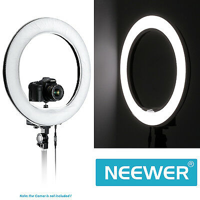 Neewer 5500K 600 LED Camera Video Ring Light with Battery Slot