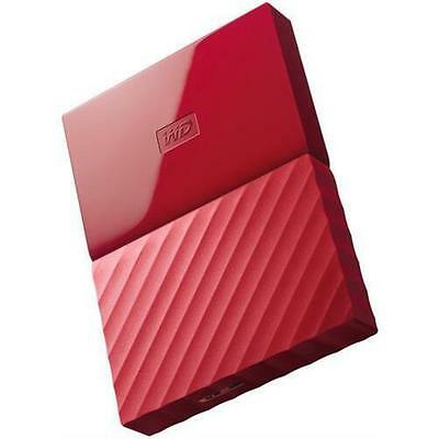 WD My Passport WDBYNN0010BRD-WESN 1 TB External Hard Drive - USB 3.0 - Red