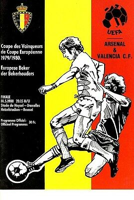 CUP WINNERS CUP FINAL 1980: Arsenal v Valencia