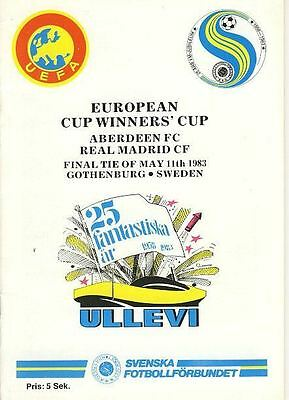 CUP WINNERS CUP FINAL 1983: Aberdeen v Real Madrid