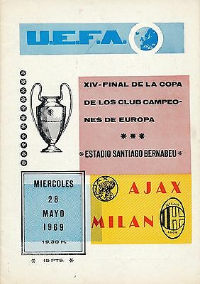 EUROPEAN CUP FINAL 1969: Ajax v AC Milan